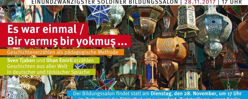 28. November: Soldiner Bildungssalon – Geschichtenerzählen als pädagogische Methode
